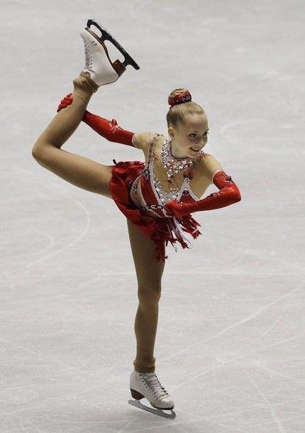 Elena Radionova of Russia performs during the free skate of the NHK Trophy figure skating in Tokyo, Saturday, Nov. 9, 2013.