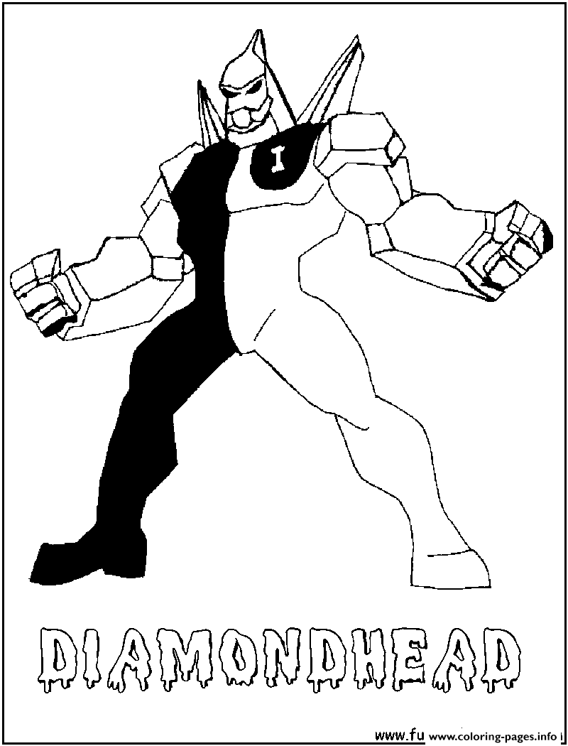 Diamond Head Ben 10 Coloring Pages Google Search Coloring Books Ben 10 Coloring Pages