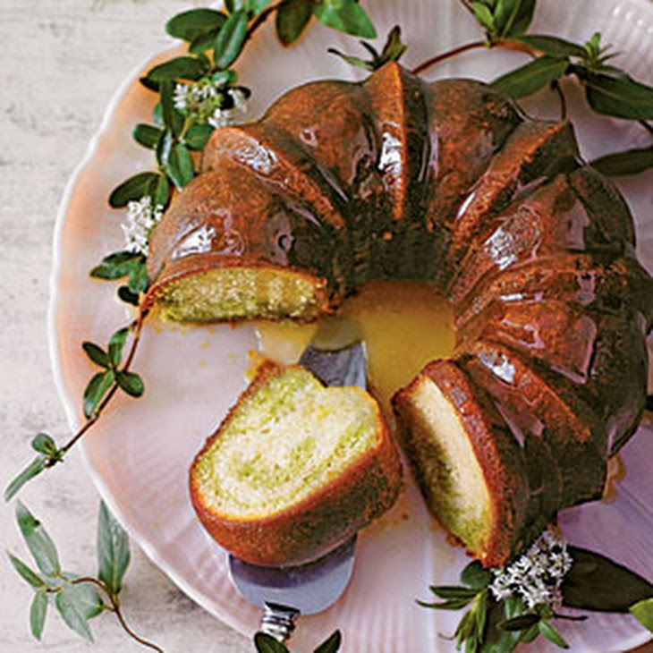 Green teahoneysuckle cake recipe with images