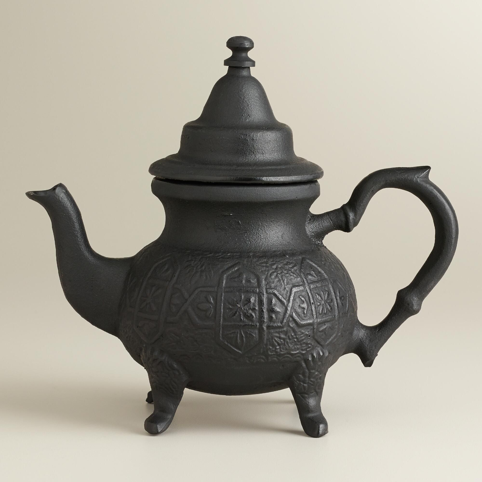 $24.99 Moroccan Cast Iron Infuser Teapot | World Market