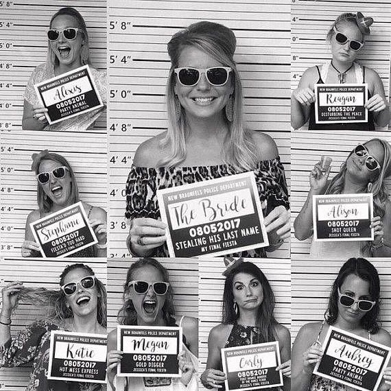 Photo of Bachelorette Mug Shot Signs – Bachelorette Party Games, Printable