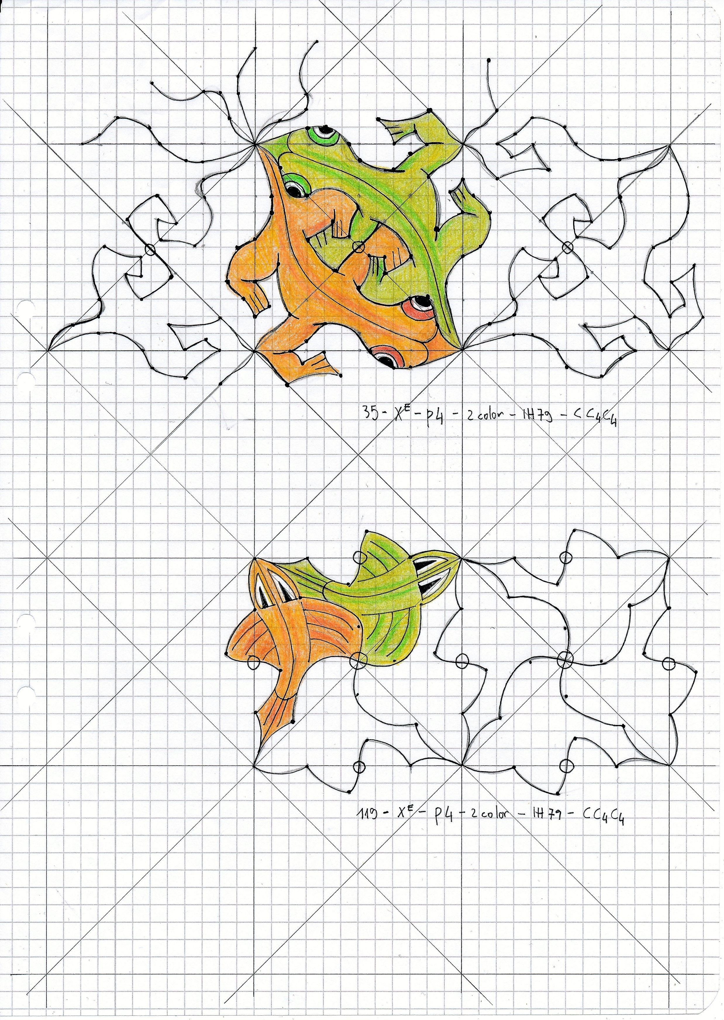 Mc Escher Nr 35 Escher Handmade Symmetry Geometry Pattern Tessellation Watercolor Aquarelle Reptiles Escher Art Tessellation Patterns Tessellation Art