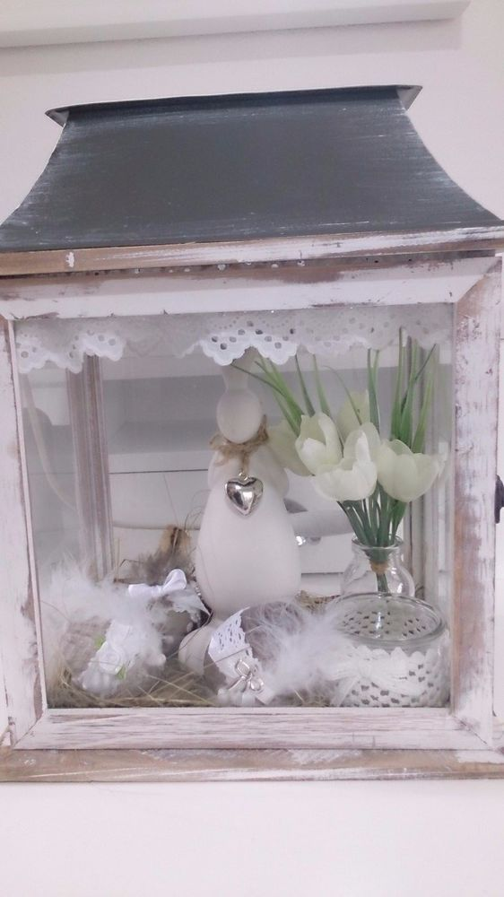 details zu baroque osterhase hase wei vintage shabby deko ostern figur h he 28 5cm neu ostern. Black Bedroom Furniture Sets. Home Design Ideas