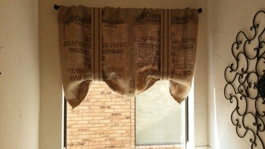 Burlap Curtains Made From Potato Sack Found In Canton