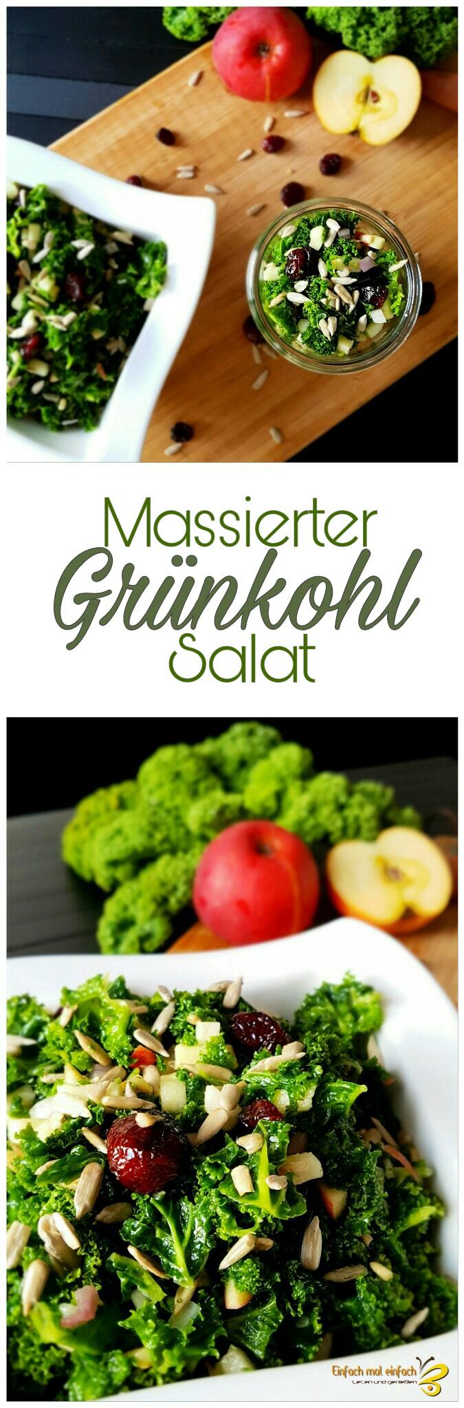 Massierter Grünkohl-Salat