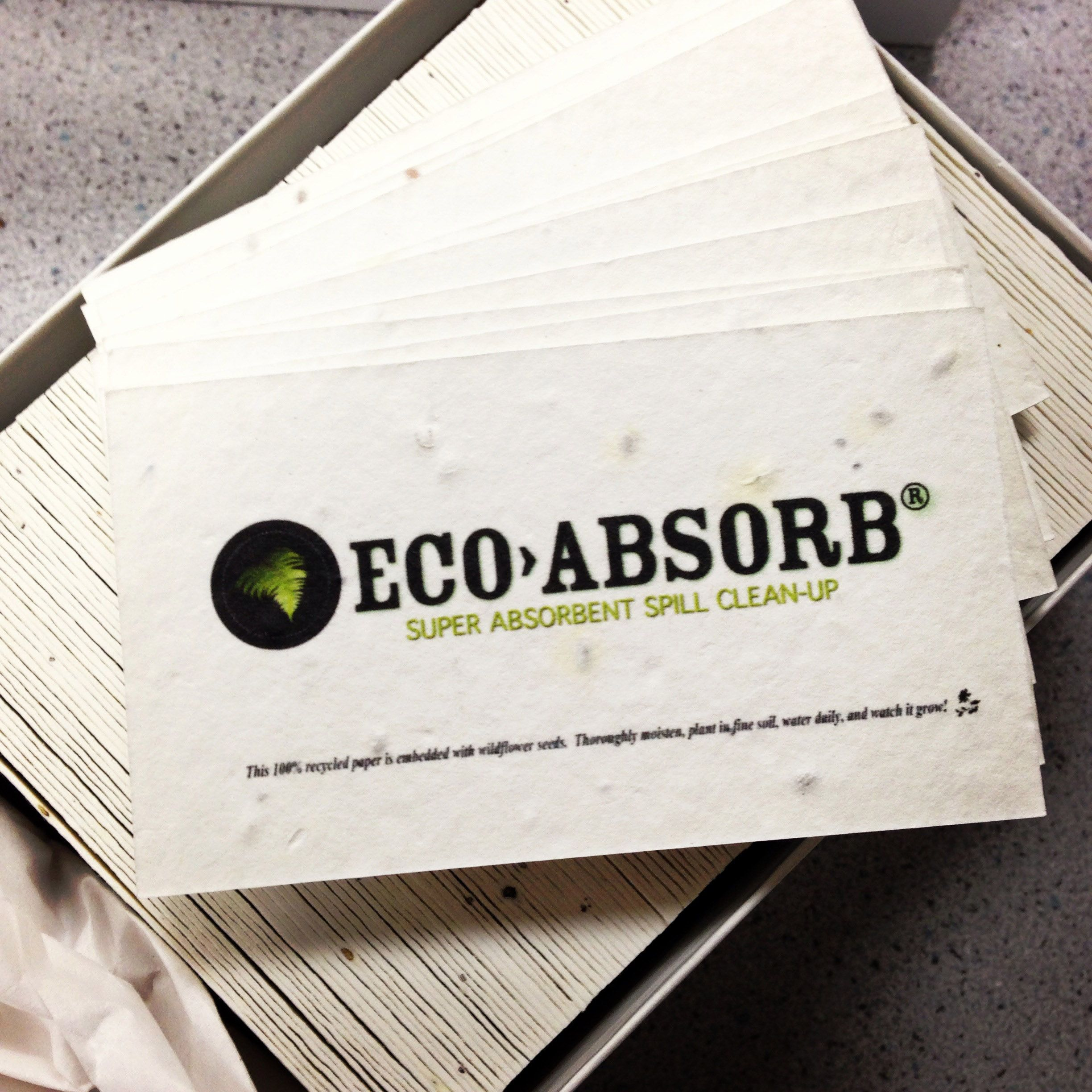 Our new plantable business cards from Green Field Paper company help ...