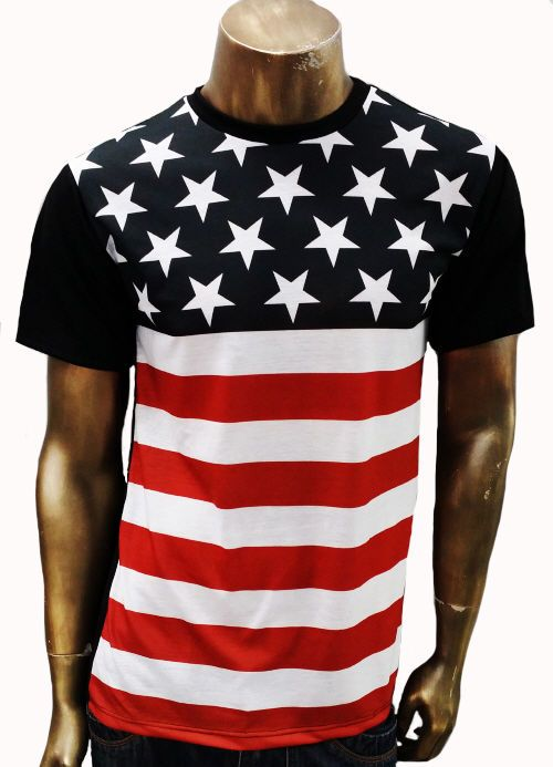 American Flag T Shirt Sublimation Print Made In Usa Red Wht Blue Cotton Spandex American Flag Tshirt America Outfit Usa Outfit