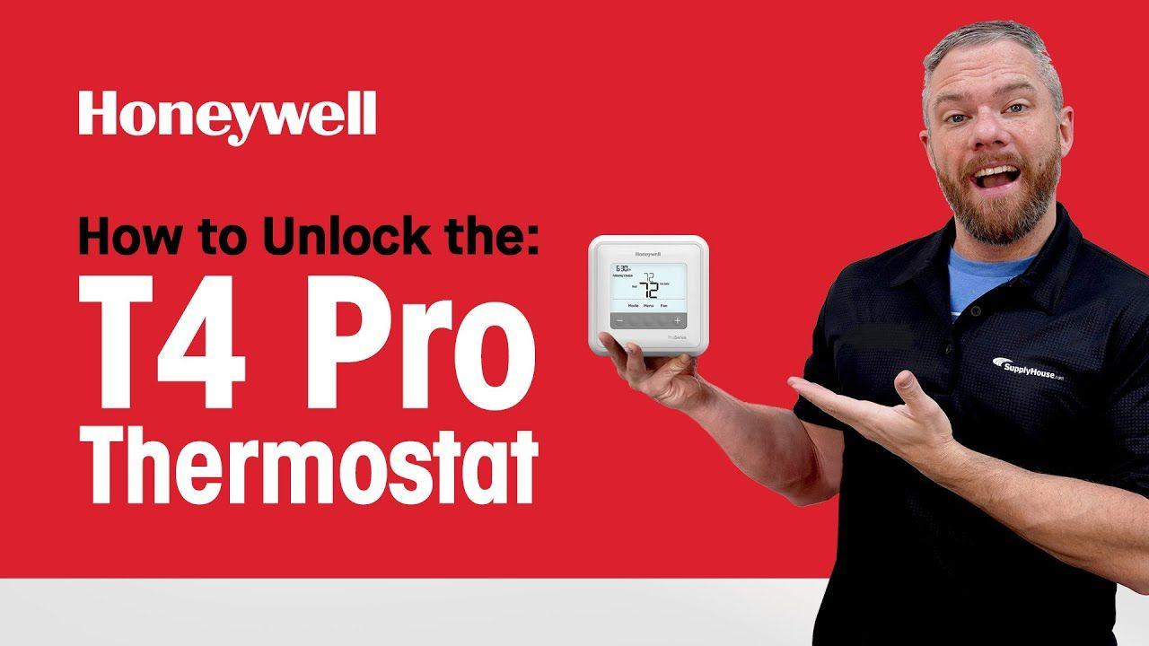 how to unlock honeywell thermostat pro series