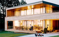 Moderne holzhäuser innen  Holzhaus: Vor- und Nachteile von Holzhäusern | Holzhäuschen, Öko ...
