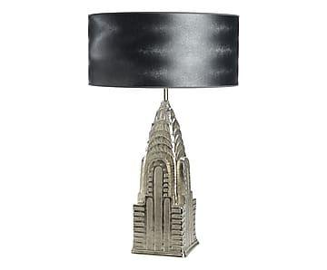 Lampe à poser, argenté et noir - H50