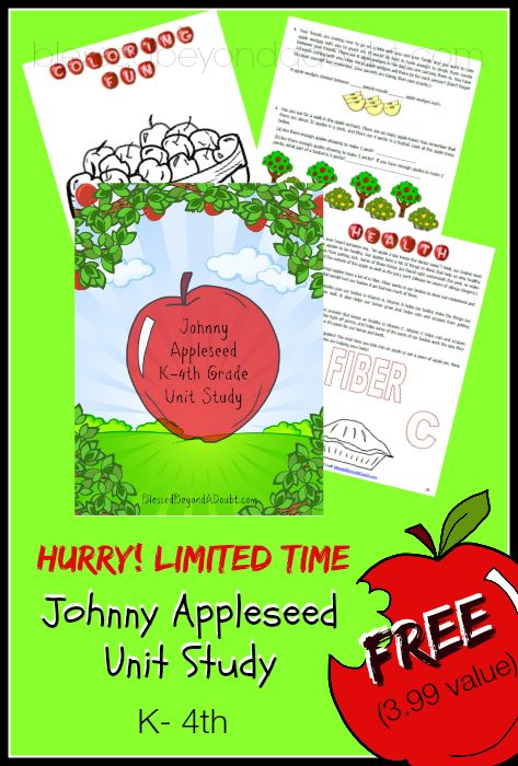 Photo of FREE Who is Johnny Appleseed Unit Study! – Blessed Beyond A Doubt