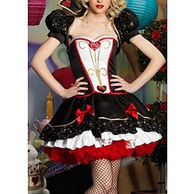 Reina de Corazones elegante vestido negro de las mujeres de lujo del traje de Halloween – USD $ 42.49