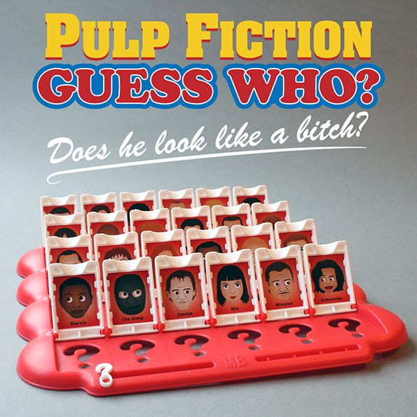 Pulp Fiction guess who game.
