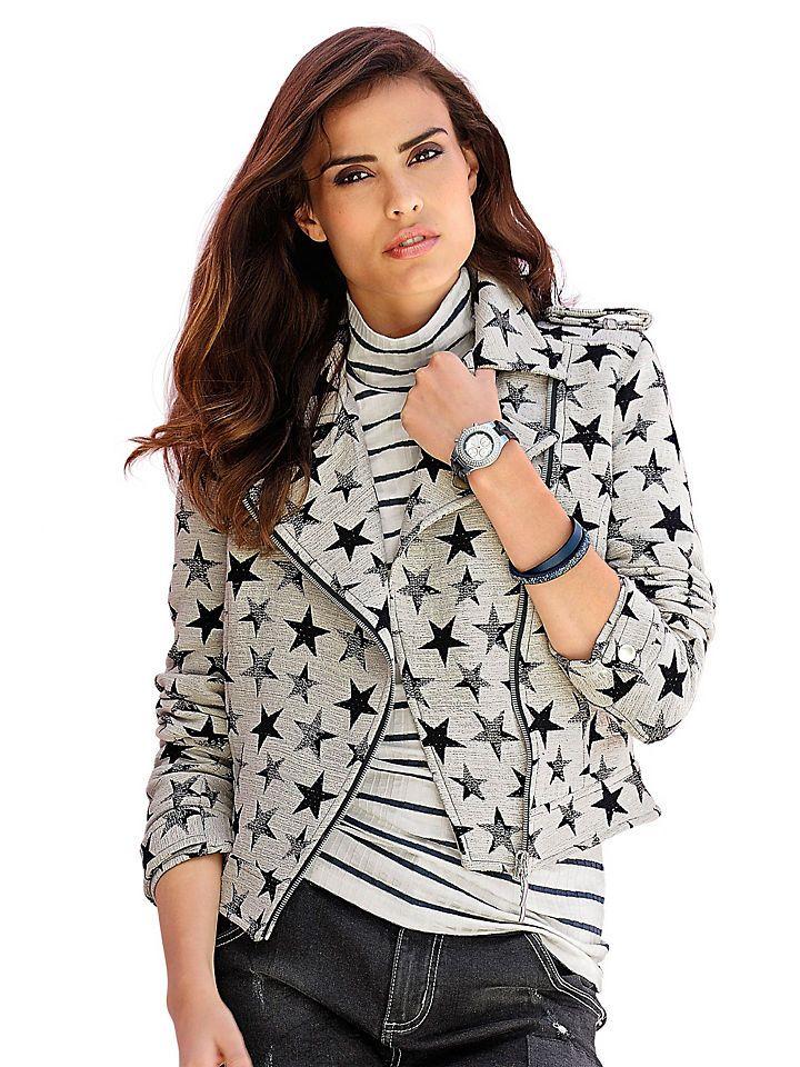 Alba Moda Bikerblazer im Sternedessin Jetzt bestellen unter: https://mode.ladendirekt.de/damen/bekleidung/blazer/sonstige-blazer/?uid=9547b504-0c66-5222-9dc6-e3f6eed6a260&utm_source=pinterest&utm_medium=pin&utm_campaign=boards #sonstigeblazer #blazer #bekleidung