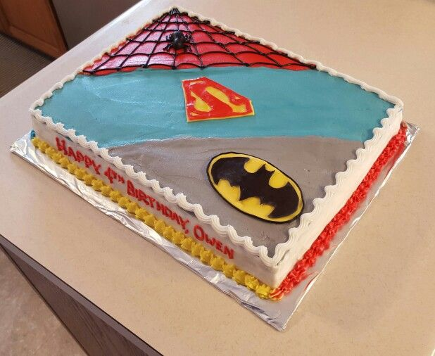 Super hero sheet cake Cakes Pinterest Hero Cake and Birthdays