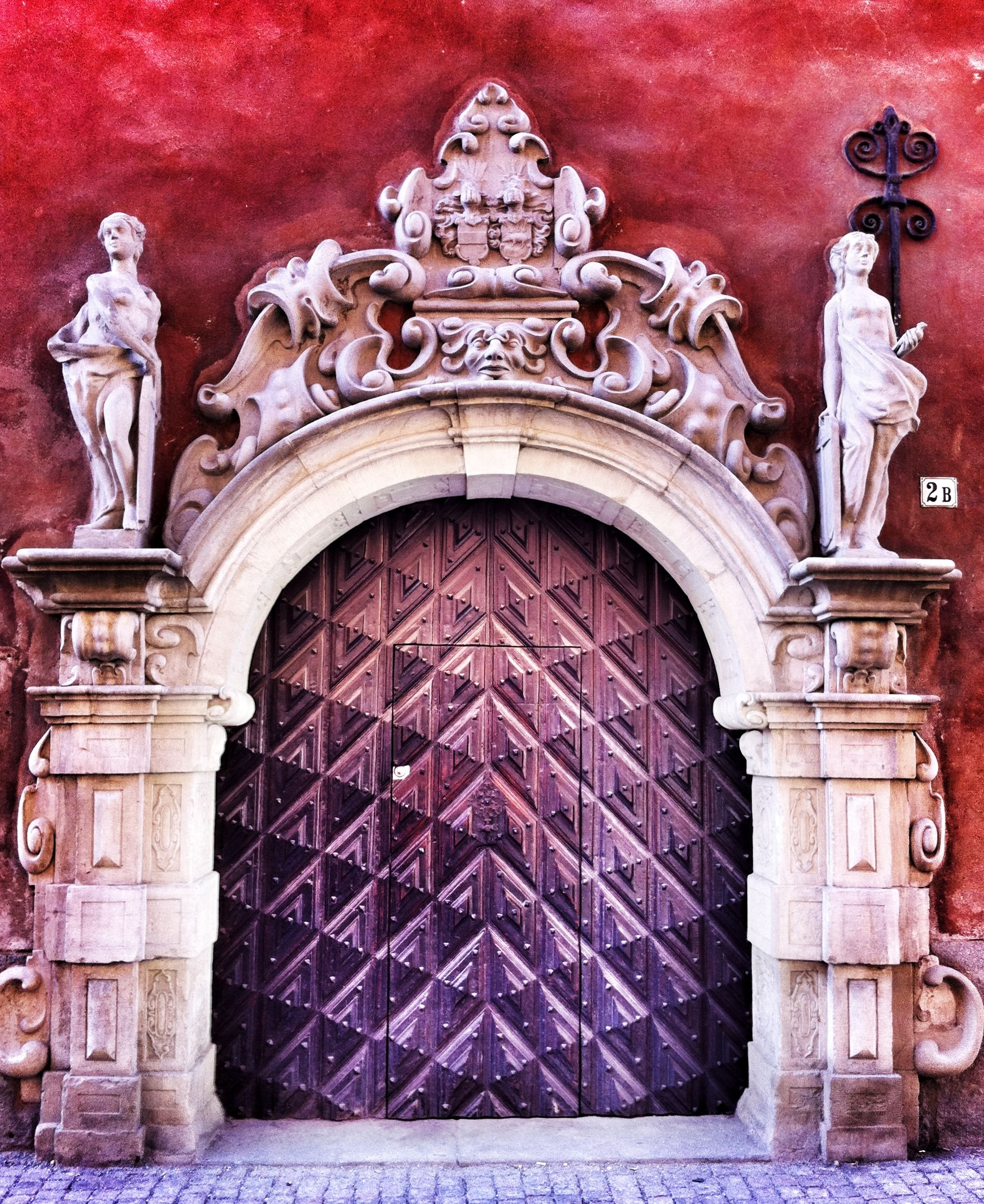 Stockholm, Sweden.  Yes, it's a door but it's beautiful and masterpiece in its own right.