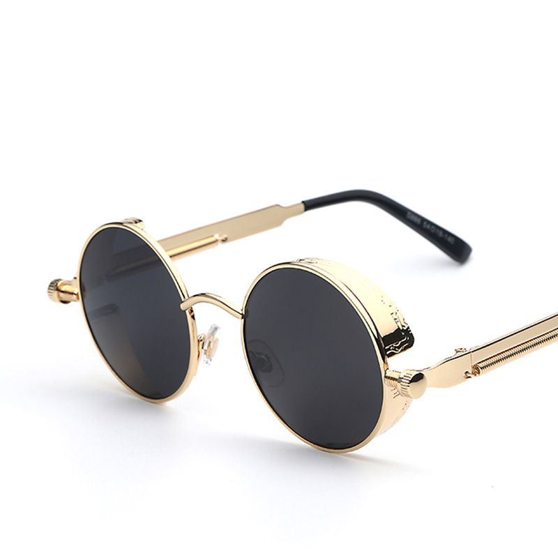 ea1ba91057 Gothic Steampunk Mens Sunglasses Coating Mirrored Sunglasses Round Circle  Sun glasses Retro Vintage Gafas Masculino Sol – sunglasss.net