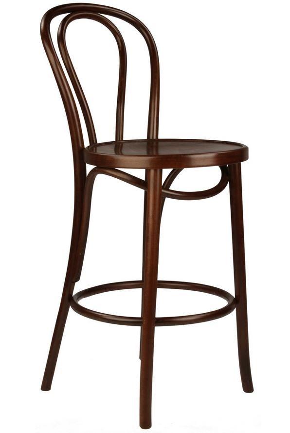 replica thonet no 18 bentwood stool timber 75cm walnut
