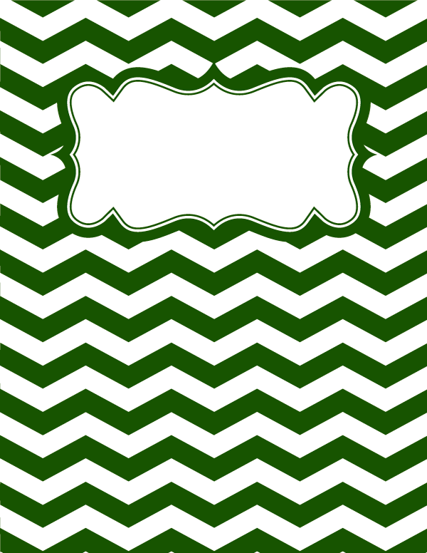 Free Printable Green And White Chevron Binder Cover Template Download The In JPG Or