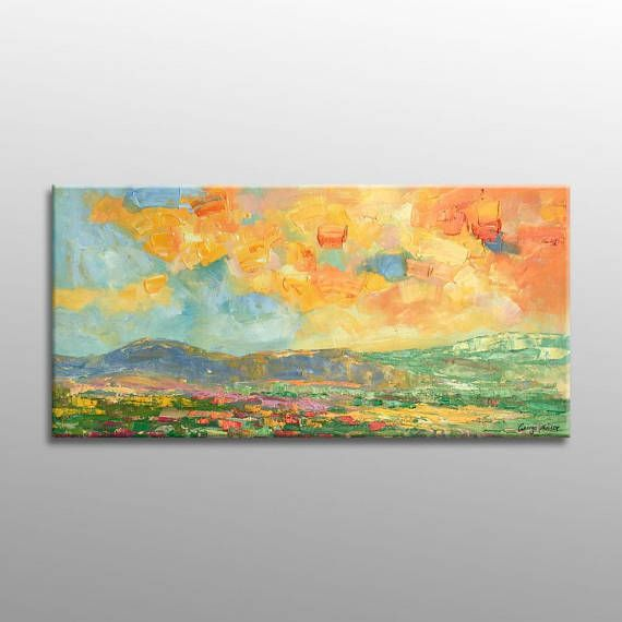 Oil Painting Landscape Painting Abstract Canvas Art Abstract Art ...