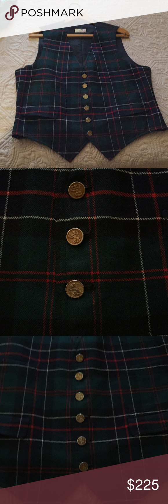 Vintage From The Scotch House Vest The Famous Scotch House Made Vintage Vest Directly From England And Dads Closet Three Pocket Ves Vintage Vest