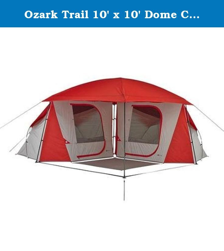 Ozark Trail Dome ConnecTent with Versatile Canopy This tent features a versatile canopy can be used alone or with one or two add-on sleeping rooms.  sc 1 st  Pinterest & Ozark Trail 10u0027 x 10u0027 Dome ConnecTent with Canopy Sleeps 8. This ...