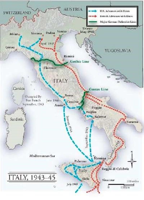 WWII European Front - Battles of Italy | World war two ... on