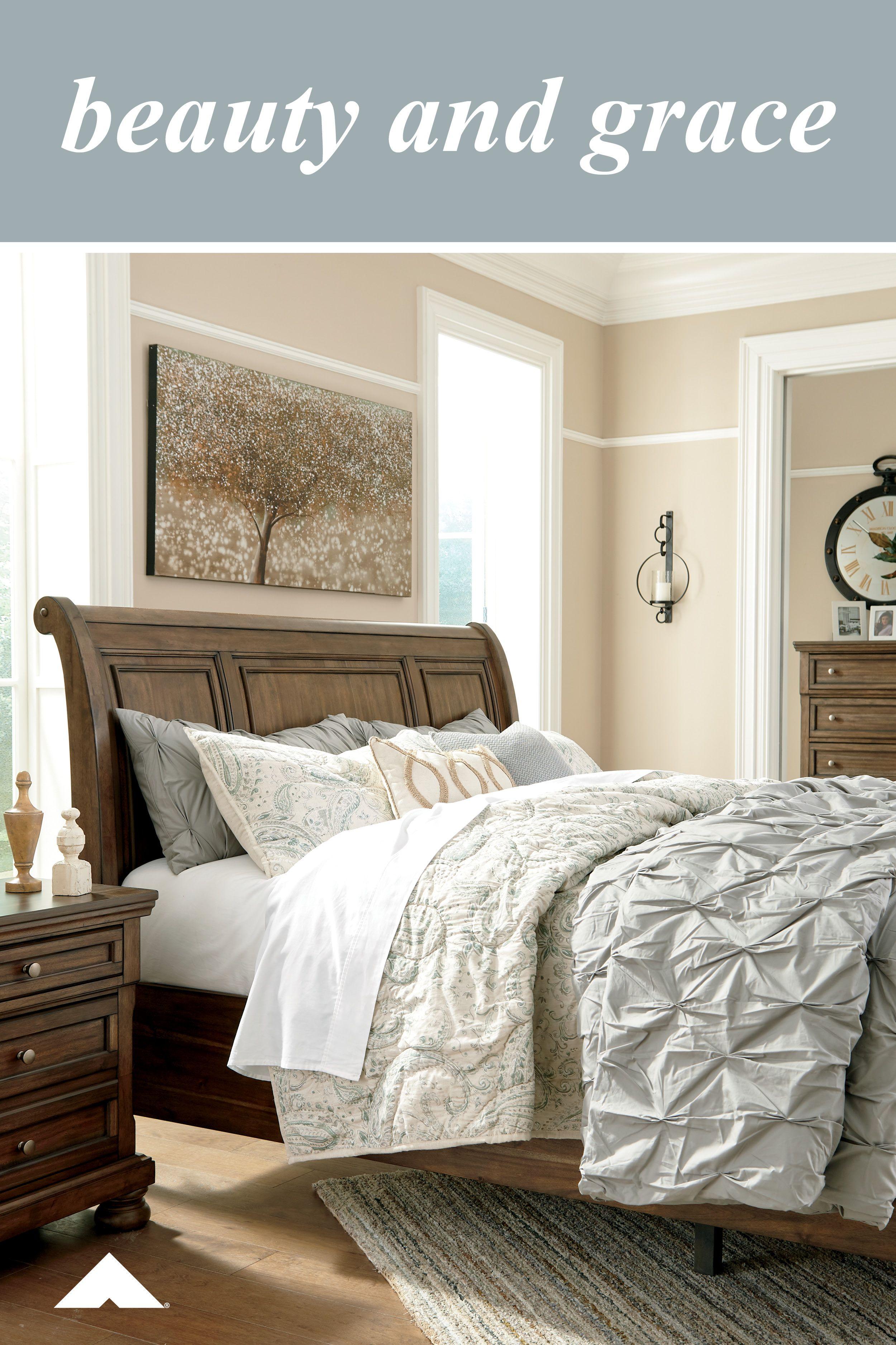 Rana Furniture Bedroom Sets : furniture, bedroom, Flynnter, Master, Bedroom, Ashley, Furniture, Fresh,, Traditional, Style., Flynnte…, Furniture,, Contemporary