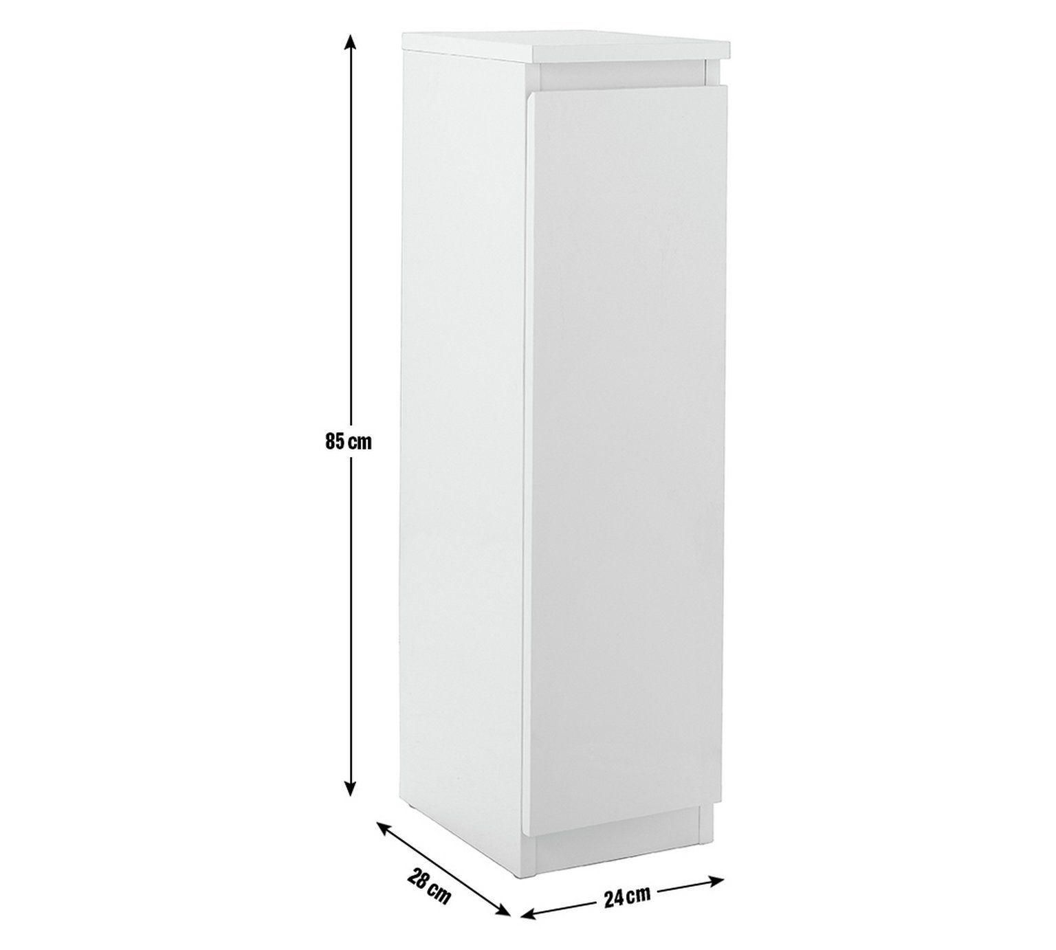 Hygena Gloss Bathroom Floor Cabinet, Argos Home Gloss Bathroom Floor Cabinet White