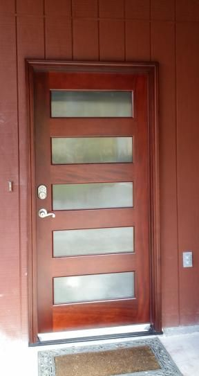 Lovely Contemporary Wood Entry Doors
