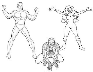 Fire Star Ice Man Spiderman Coloring Page Spiderman Coloring 80s Cartoons Spiderman