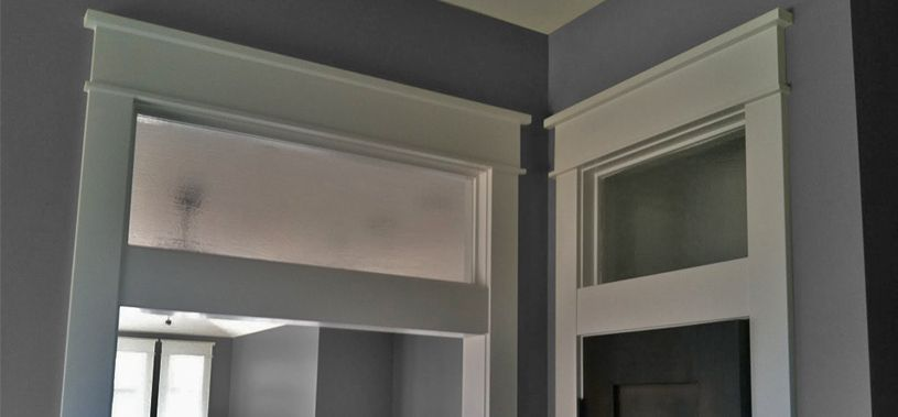 Interior Bathroom Transom Above Door   I Like This One With The Etched  Glass Look