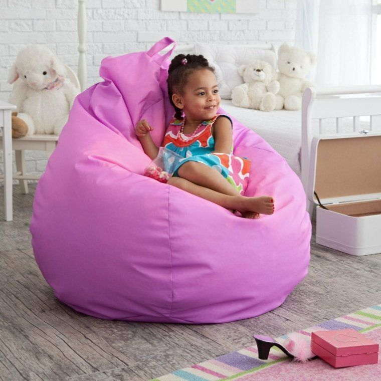 Pouf Geant Pour Fille Beanbagsforkids Pouf Poire Enfants Chaise Enfant Chambre Enfant