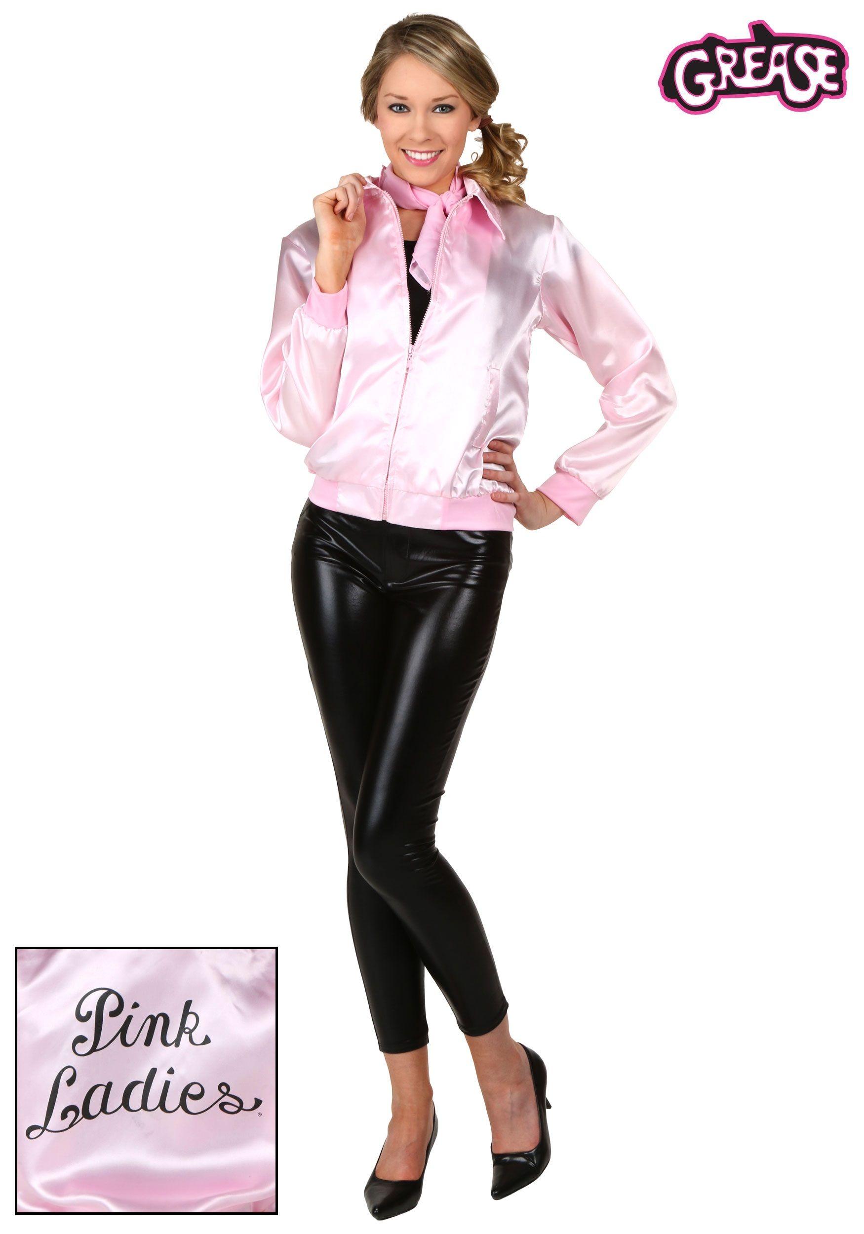 Adult Grease Pink Ladies Jacket http//coolhalloweenideas