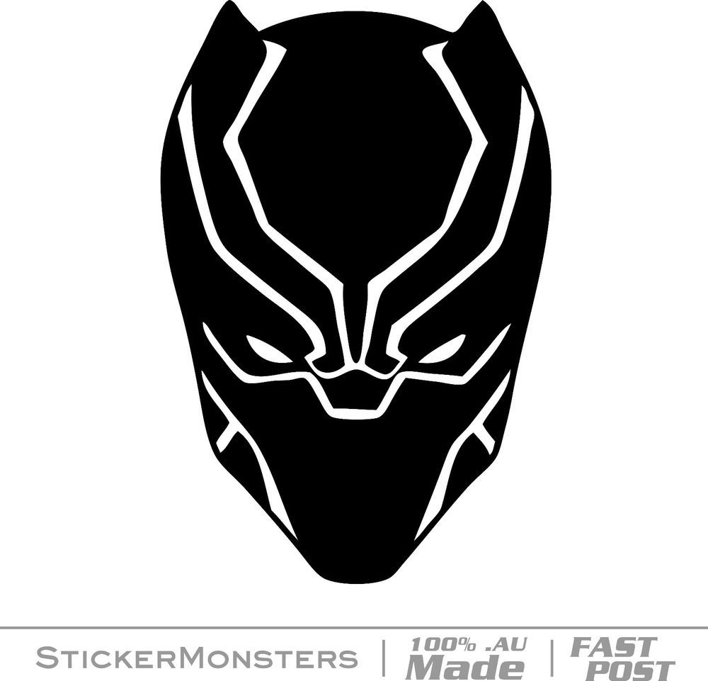 Black panther stickers car marvel comic decals