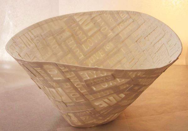 Lisa Firer | Porcelain clay, oxide monoprints