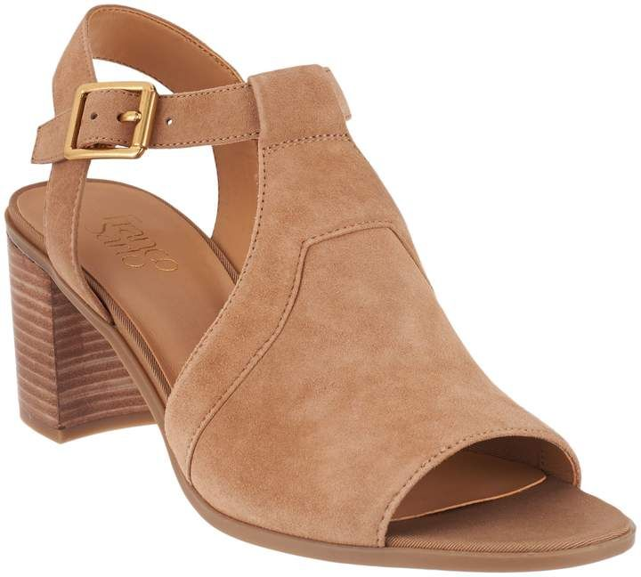 37f3499af1 Franco Sarto T-Strap Sandals w/ Adjustable Ankle Strap - Heron in ...