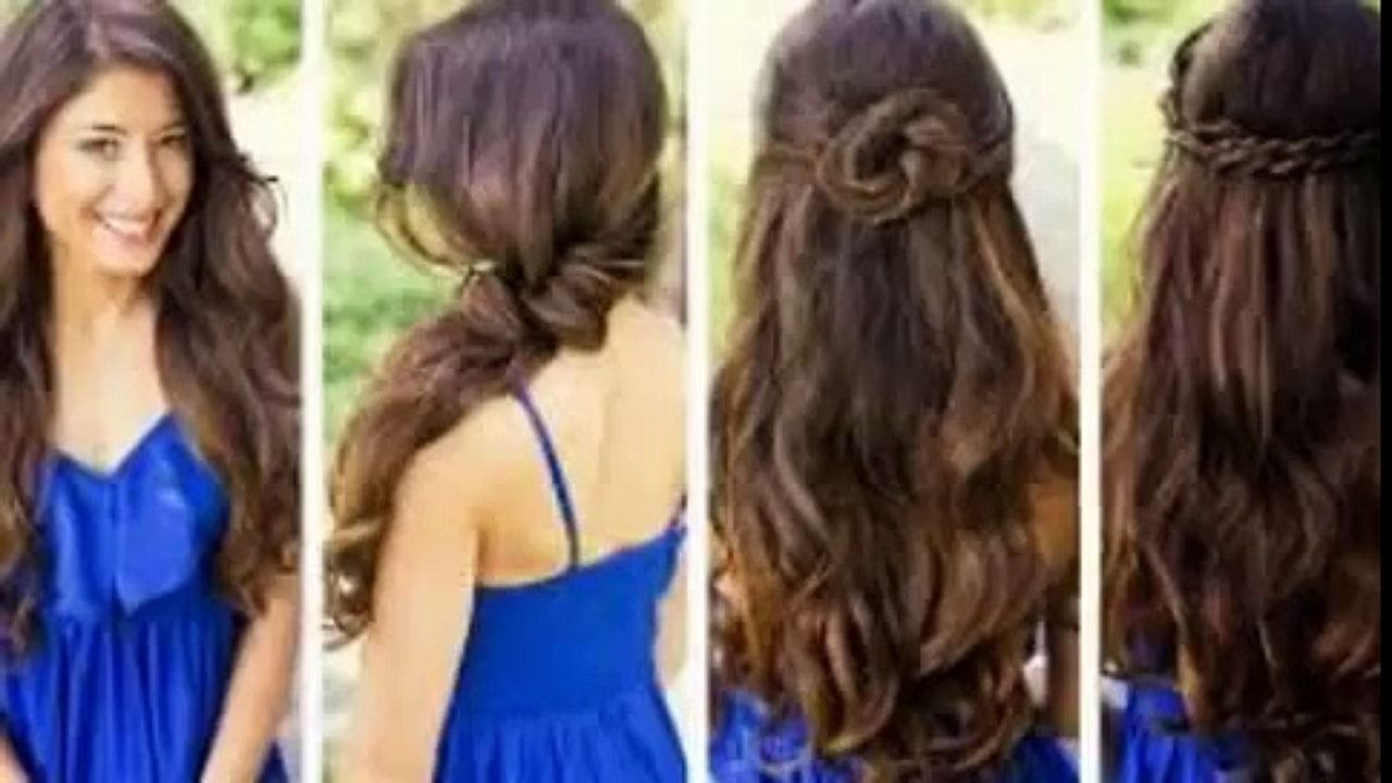 Cute Hairstyles For Long Hair Dailymotion Easy And Cute Hairstyles For Long Hair Video Dail Medium Hair Styles Cute Hairstyles Long Long Hair Indian Girls