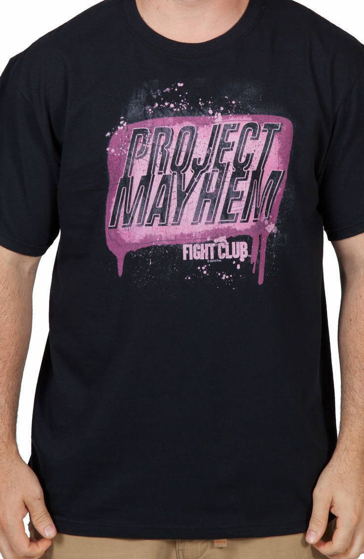 f8397eea Project Mayhem Fight Club Shirt | New Mens T-Shirts From 80sTees.com ...