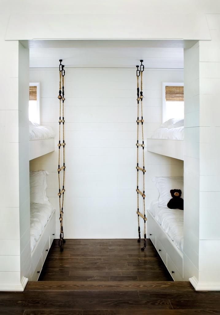 habitacin infantil camas escaleras de cuerda