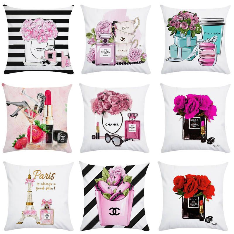 Cheap Cushion Cover Buy Directly From China Suppliers 45cm 45cm Hand Painted Flowers And Perfume Hand Painted Flowers Decorative Pillow Covers Designer Pillow