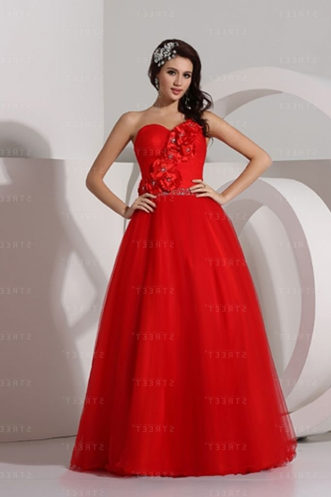 Tulle Red Color High School Winter Formal With Winter Formal Dress