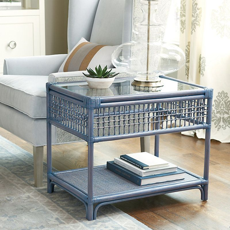 Beverly Rattan Side Table in 2020 | Rattan side table