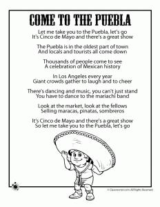 Cinco De Mayo Kids Poems Coloring Pages Cinco De Mayo Program