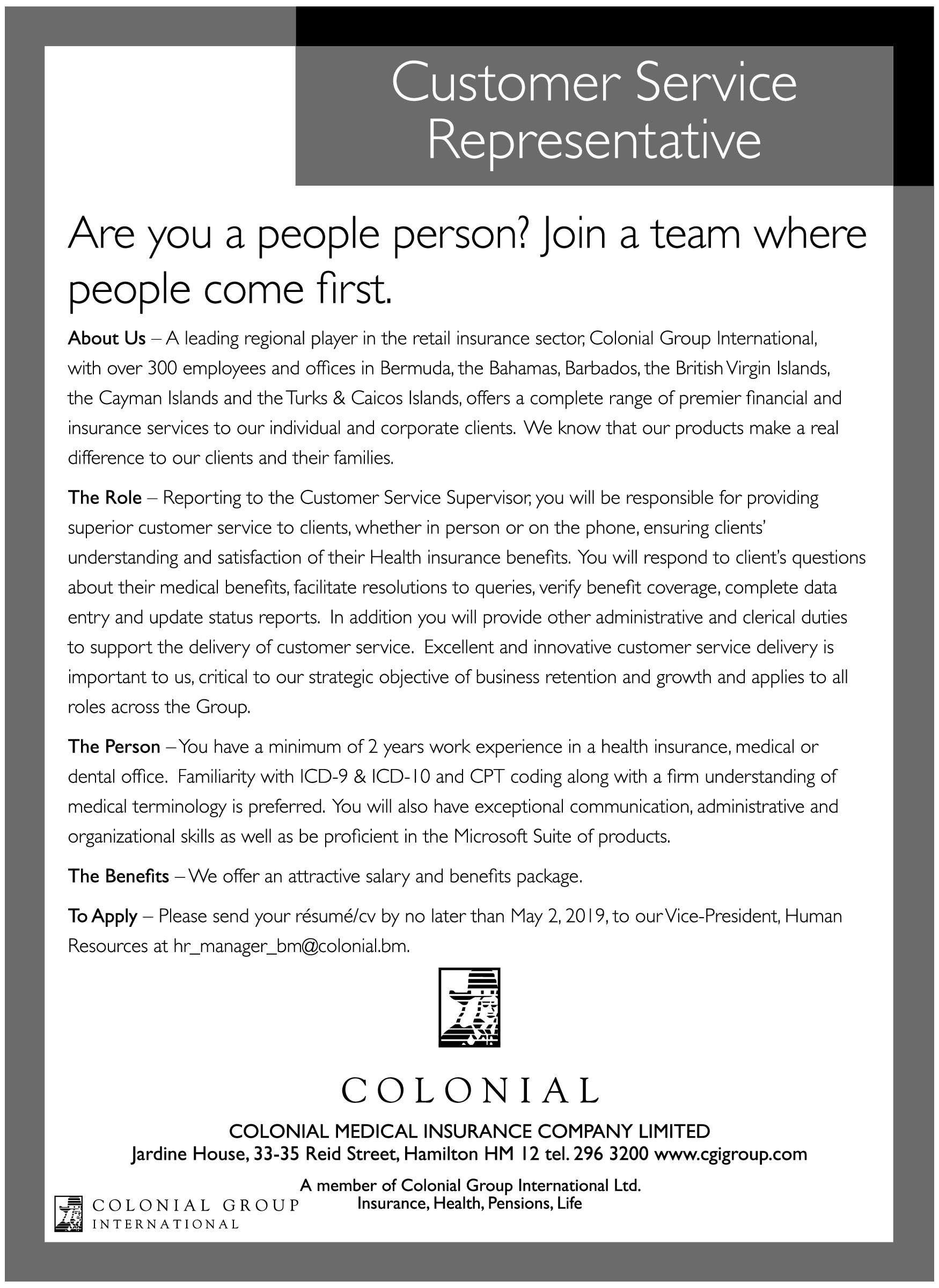 Pin By Jobwerld Com On Bermuda Jobs Customer Service Jobs