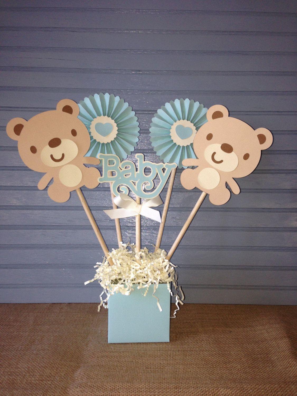 Centro De Mesa De Osito Bebe Por Noonelikeyou En Etsy Baby Bear Baby Shower Bear Baby Shower Theme Decoracion Baby Shower