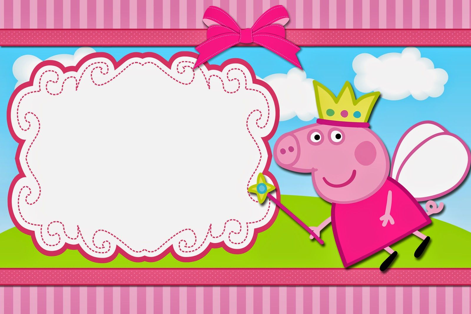 image relating to Peppa Pig Printable Invitations named Peppa Pig Fairy: No cost Printable Invites. Birthday