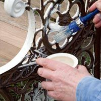 Spruce up the cast iron frame