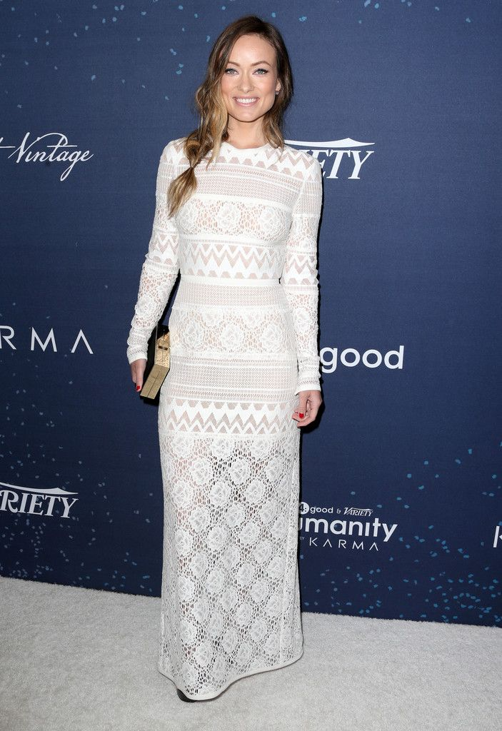 Olivia Wilde in Elie Saab attends the 3rd annual unite4:humanity event. #bestdressed