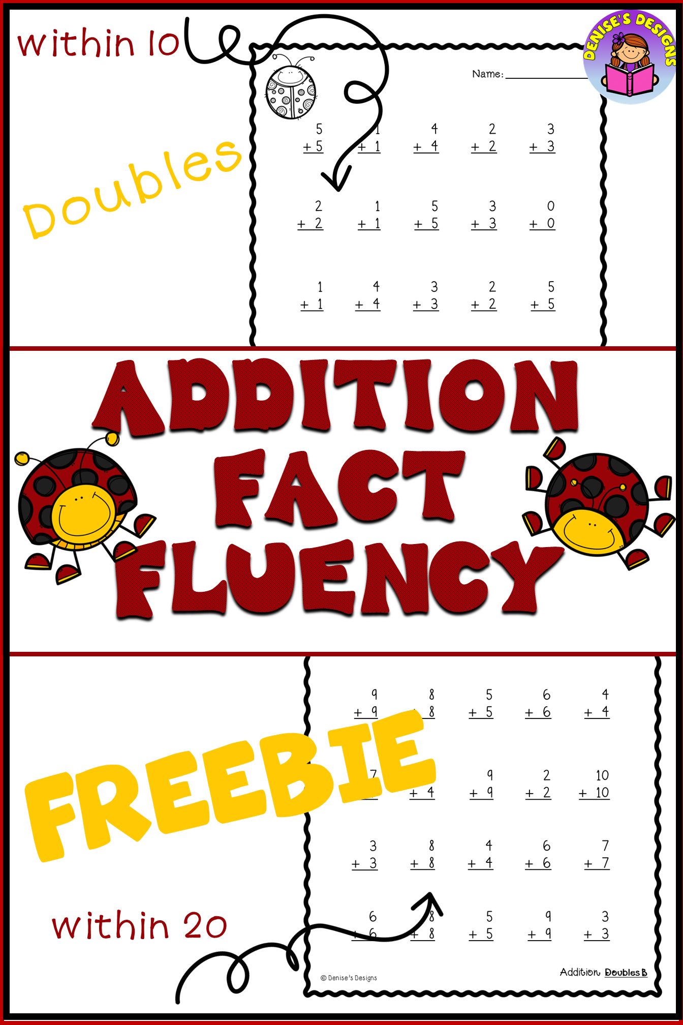 Addition Fact Fluency Sums To 10 And 20 Sampler